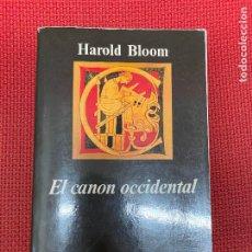 Libros de segunda mano: EL CANON OCCIDENTAL. HAROLD BLOOM. ANAGRAMA, 1995.. Lote 295991383