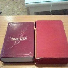 Libros de segunda mano: OBRAS INMORTALES.MAXIMO GORKI.EDAF.1962.1700 PAGINAS.VER INDICE.. Lote 296762973