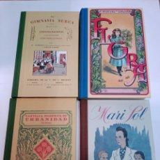Libros de segunda mano: LOTE 32 LIBROS FACSIMIL (CARTILLA, LIBRO ESCOLAR ANTIGUO, EDUCACIÓN NIÑAS...) SA6102. Lote 296791878