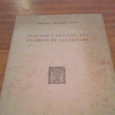 Libros de segunda mano: LECCION Y SENTIDO DE GUZMAN DE ALFARACHE.ENRIQUE MORENO BAEZ.1948.. Lote 297178738