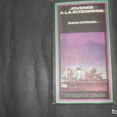 Libros de segunda mano: JÓVENES A LA INTEMPERIE, JESÚS TORBADO, ED. PLAZA Y JANÉS. Lote 297179073