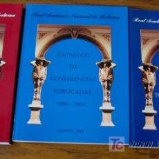 Libros de segunda mano: 3 LIBROS .. REAL ACADEMIA NACIONAL DE MEDICINA. Lote 18340329