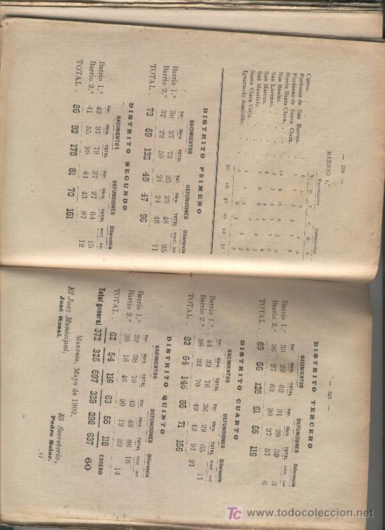 Libros de segunda mano: LIBRO TOPOGRAFIA MEDICA DE MANRESA AÑO 1906 NO PUBLICADO. PEDRO PALLAS VALL MEDICINA BAGES - Foto 4 - 4036928