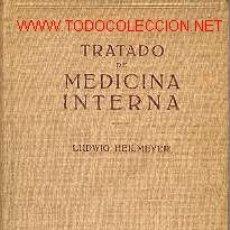 Libros de segunda mano: TRATADO DE MEDICINA INTERNA. HEILMEYER, LUDWIG 2 TOMOS LABOR 1958. Lote 25734645