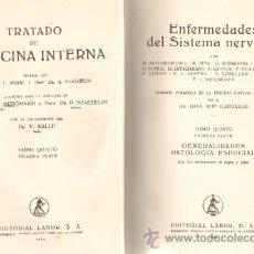 Libros de segunda mano: TRATADO DE MEDICINA INTERNA. TOMO V: ENFERMEDADES DEL SISTEMA NERVIOSO (2 VOLUMENES) (A-MEDI-045). Lote 12317768