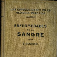 Libros de segunda mano: MEDICINA. ENFERMEDADES DE LA SANGRE POR EL DR. FARRERAS. 4ª EDICION. ED. LABOR 1944. Lote 10601437
