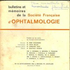 Libros de segunda mano: MEDICINA. SOCIETE FRANCAISE D'OPHTHALMOLOGIE 1973. MASSON % CIE. 1974. Lote 12539199