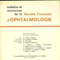 Libros de segunda mano: MEDICINA. SOCIETE FRANCAISE D'OPHTHALMOLOGIE 1981. MASSON % CIE. 1982. Lote 12539203