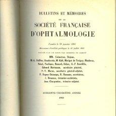 Libros de segunda mano: MEDICINA. BULLETINS ET MEMOIRES DE LA SOCIETE FRANCAISE D'OPHTALMOLOGIE 1950. MASSON ET CIE.. Lote 10663937
