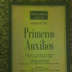 Libros de segunda mano: MANUAL DE PRIMEROS AUXILIOS (DE SELECCIONES DE READERS DIGEST) - MUY RARO!!!. Lote 235506025