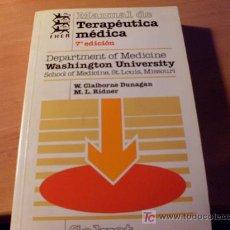 Libros de segunda mano: MANUAL DE TERAPEUTICA MEDICA. Lote 17098458