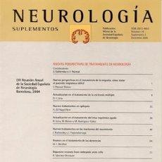 Libros de segunda mano: REVISTA NEUROLOGÍA (SUPLEMENTOS) VOLUMEN 19 - SUPLEMENTO 2 - DICIEMBRE 2004. Lote 17615789