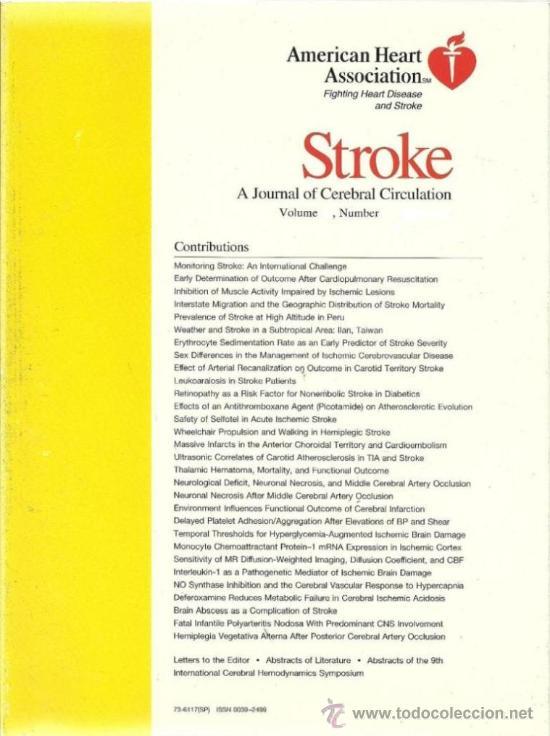 Stroke, A journal of cerebral Circulation Volume 26, Number 6, June 1995