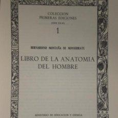 Libros de segunda mano: LIBRO DE LA ANATOMÍA DEL HOMBRE. . Lote 30026221