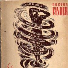 Libros de segunda mano: EL ESTREÑIMIENTO Y SU CURACIÓN - DOCTOR VANDER - LIBRERIA SINTES 1941. Lote 27592567