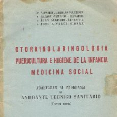 Libros de segunda mano: OTORRINOLARINGOLOGIA - PUERICULTURA E HIGIENE INFANCIA - MEDICINA SOCIAL AYDTE.TEC.SANITARIO 1956. Lote 19302886