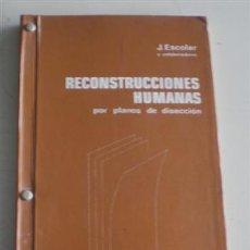 Libros de segunda mano: RECONSTRUCCIONES HUMANAS .. POR PLANOS DE DISECCIÓN .. POR J. ESCOLAR Y COLABORADORES .. 1977. Lote 19664923