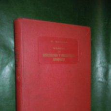 Libros de segunda mano: MANUAL DE MICROBIOLOGÍA Y PARASITOLOGÍA SANITARIAS, DE VALENTIN MATILLA - 1956. Lote 20287016