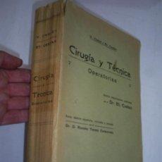Libros de segunda mano: TRATADO ELEMENTAL DE CIRUGÍA Y TÉCNICA OPERATORIAS V. CHALOT ET. CESTAN ESPASA C. 1940 RM39215. Lote 27590904
