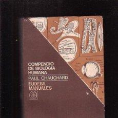Libros de segunda mano: COMPENDIO DE BIOLOGIA HUMANA /POR: PAUL CHAUCHARD. Lote 22460246