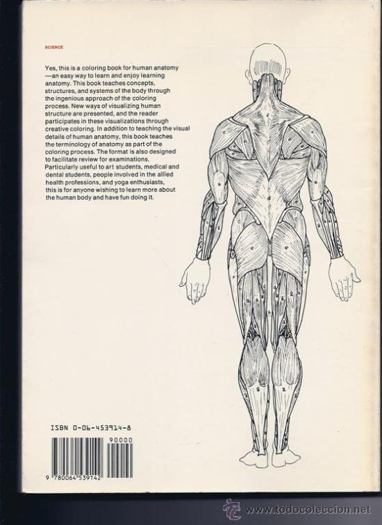 THE ANATOMY COLORING BOOK. WYNN KAPIT / LAWRENCE M.ELSON. SIN USAR