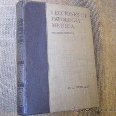 Libros de segunda mano: LECCIONES DE PATOLOGÍA MÉDICA. TOMO II - JIMENEZ DIAZ, DR - 1942 + INFO. Lote 24619121