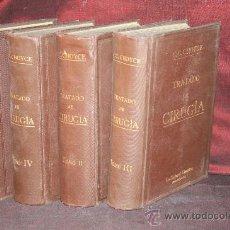 Libros de segunda mano: 1704- TRATADO DE CIRUGÍA,OBRA EN 4 TOMOS, CIENTÍFICA, BARCELONA, C.C.CHOICE,TRAD. DR. FERRER. Lote 25361412