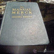 Libros de segunda mano: EL MAJUAL MERCK DE DIAGNOSTICO Y TERAPEUTICA - 1959 - SEGUNDA EDICIÓN . Lote 25611818