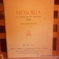 Libros de segunda mano: MEMORIA DEL PRIMER AÑO DE ACTUACIÓN - INSTITUTO DE FISIOLOGIA Y PATOLOGIA REGIONALES DE TENERIFE. Lote 28498140