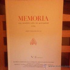 Libros de segunda mano: MEMORIA DEL SEGUNDO AÑO DE ACTUACION 1956. SESION PLENARIA DE 1957 - I. P. T.. Lote 28498733