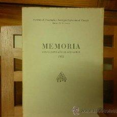 Libros de segunda mano: MEMORIA DEL CUARTO AÑO DE ACTUACIÓN-1958. INSTITUTO DE FISIOLOGÍA Y PATOLOGÍA REGIONALES DE TENERIFE. Lote 28581092