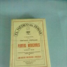 Libros de segunda mano: TRATADO POPULAR DE PLANTAS MEDICINALES . WIFREDO BOUÈ. EDITORIAL SINTES 1968. Lote 28807211