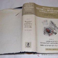 Libros de segunda mano: TRATADO DE TÉCNICA OPERATORIA GENERAL Y ESPECIAL. TOMO V RM30760. Lote 29243202