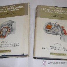 Libros de segunda mano: TRATADO DE TÉCNICA OPERATORIA GENERAL Y ESPECIAL. TOMO X: PRIMERA PARTE RM30763. Lote 29243381