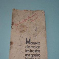 Libros de segunda mano: MANERA DE TRATAR LOS TRASTORNOS GASTROINTESTINALES (MAGNESIA S PELLEGRINO). Lote 30075067
