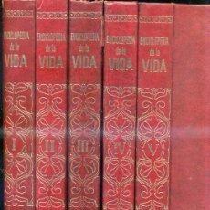 Libros de segunda mano: ENCICLOPEDIA DE LA VIDA (1970) LA OBRA COMPLETA, CINCO TOMOS GRAN FORMATO. Lote 277263573