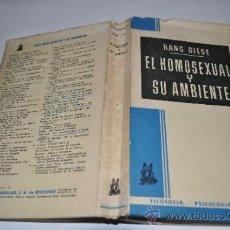 Libros de segunda mano: EL HOMOSEXUAL Y SU AMBIENTE HANS GIESE RA10028. Lote 31882583