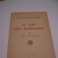 Libros de segunda mano: EL AIRE QUE RESPIRAMOS ( FOLLETO DE VULGARIZACIÓN ) - DR. J. FERNAN PÉREZ 1953 - ILUSTRADO. Lote 32357933