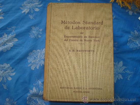 METODO STANDARD DE LABORATORIO 1943- (Libros de Segunda Mano - Ciencias, Manuales y Oficios - Medicina, Farmacia y Salud)