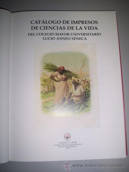 Libros de segunda mano: Rodríguez Cibrián, Daniel - Catálogo de impresos de Ciencias de la Vida del Colegio Mayor... - Foto 2 - 33337921