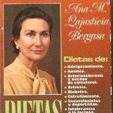 Livros em segunda mão: ANA Mª LAJUSTICIA * DIETAS DE ADELGAZAMIENTO,ANEMIA, ETC *. Lote 33736960