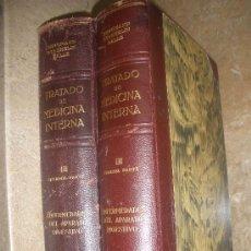 Libros de segunda mano: LIBRO DOS TOMOS TRATADO DE MEDICINA INTERNA -ENFERMEDADES APARATO DIGESTIVO-EDITORIAL LABOR 1943. Lote 35379220