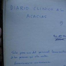 Libros de segunda mano: DIARIO CLINICO PSIQUIATRICO LAS ACACIAS HUELVA.AÑO 1976-77.FOLIO.99 PG. INCIDENCIAS ESPELUZNANTE. Lote 37102950