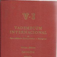 Libros de segunda mano: VADEMECUM INTERNACIONAL. 7ª EDICIÓN. DAIMON. 1966. Lote 39541657