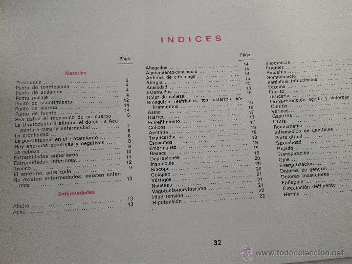Libros de segunda mano: DIGITOPUNTURA PARA EL HOGAR AÑO 1978 - Foto 3 - 39904219