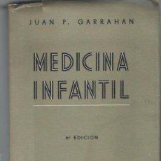 Libros de segunda mano: JUAN P.GARRAHAN, MEDICINA INFANTIL, PEDIATRIA Y PUERICULTURA, EL ATENEO, BUENOS AIRES 1946. Lote 39952989