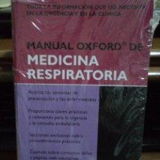 Libros de segunda mano: MANUAL OXFORD DE MEDICINA RESPIRATORIA. CHAPMAN. ISBN 9788478854110. ABSOLUTAMENTE NUEVO A ESTRENAR.. Lote 40256653