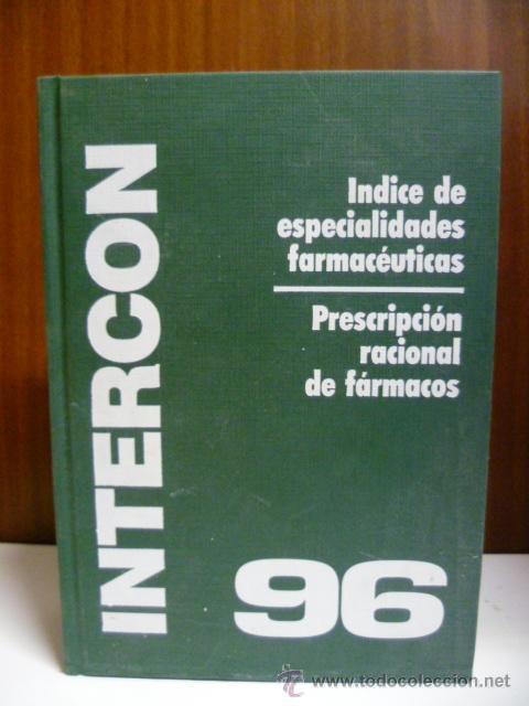INTERCON 96, INDICE DE ESPECIALIDADES FARMACEUTICAS - 1968 PAG. (Libros de Segunda Mano - Ciencias, Manuales y Oficios - Medicina, Farmacia y Salud)