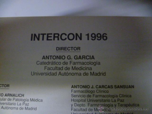 Libros de segunda mano: Intercon 96, Indice de especialidades farmaceuticas - 1968 pag. - Foto 2 - 40462006