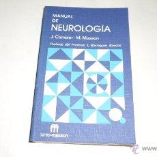 Libros de segunda mano: J.CAMBIER, M,MASON; MANUAL DE NEUROLOGIA, TORAY MASON, 1975. Lote 40733994